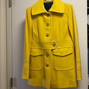 J Crew Pea Coat Yellow Size 6/8 M